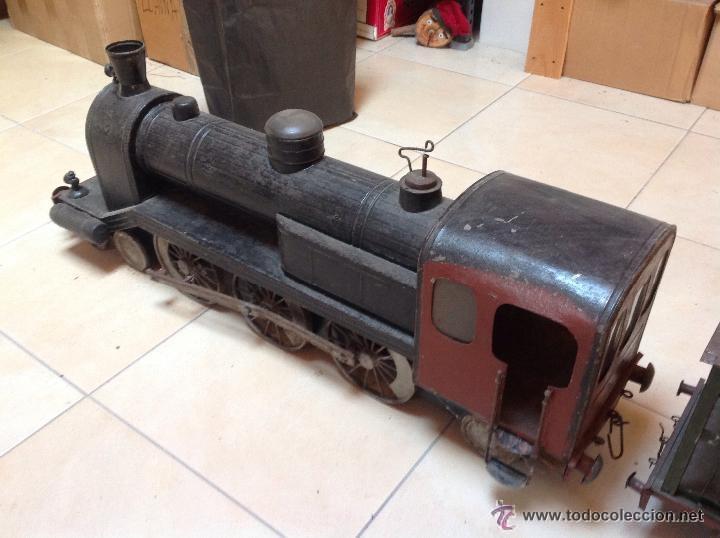 Juguetes antiguos de hojalata: Hispania tren - Foto 13 - 52413198