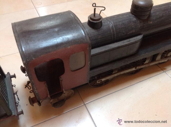 Juguetes antiguos de hojalata: Hispania tren - Foto 14 - 52413198