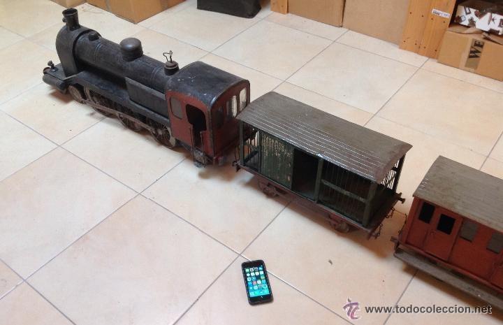 Juguetes antiguos de hojalata: Hispania tren - Foto 16 - 52413198