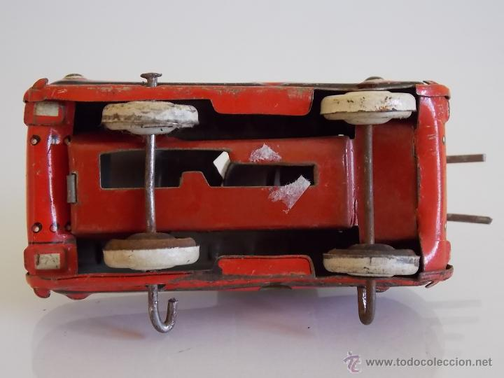Juguetes antiguos de hojalata: Antiguo tanque hojalata SFA PARIS - Foto 4 - 52599182