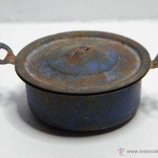 Juguetes antiguos de hojalata: CACEROLA OLLA DE COCINA DE JUGUETE. Lote 52599203