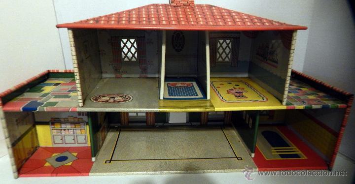 Juguetes antiguos de hojalata: CASA MUÑECAS HOJALATA Por T. Cohn, Estados Unidos 1940 GRANDES DIMENSIONES Precio: 380,00 - Foto 4 - 52676710