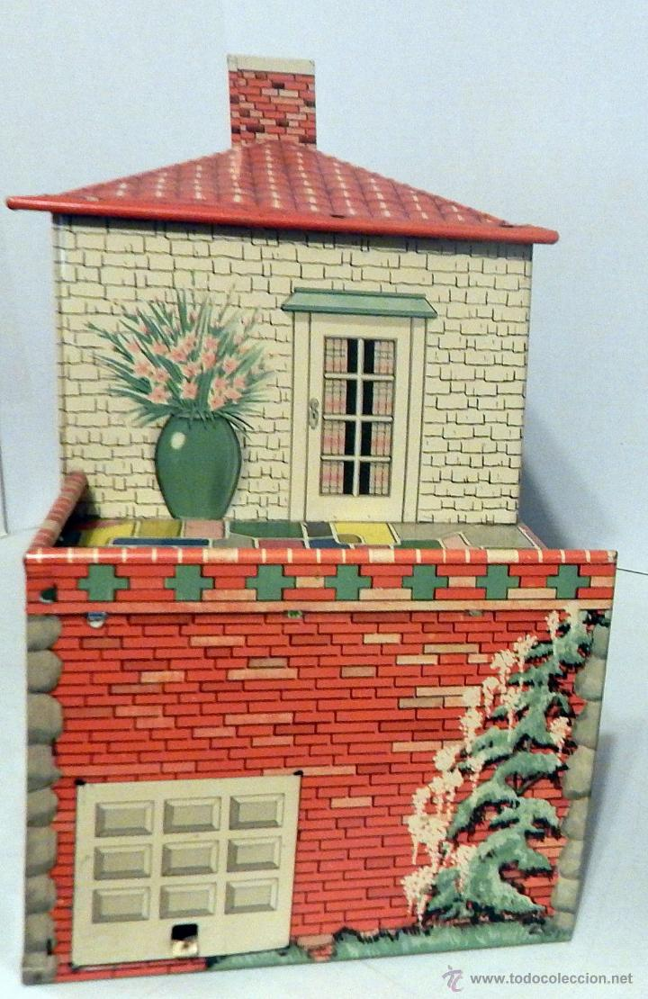 Juguetes antiguos de hojalata: CASA MUÑECAS HOJALATA Por T. Cohn, Estados Unidos 1940 GRANDES DIMENSIONES Precio: 380,00 - Foto 7 - 52676710