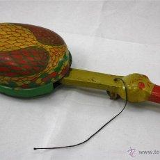 Juguetes antiguos de hojalata: MUY RARO PATO HOJALATA BOCINA 32 CM JUGUETE MADE U.S.A RARO LITOGRAFÍADO AÑOS 20 P.V.P. 170 EUROS. Lote 52725909