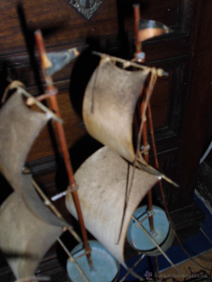 Juguetes antiguos de hojalata: antiguo barco GRANDE alicante de chapa hojalata Y MADERA Juguete antiguo por restaurar - Foto 7 - 52741543