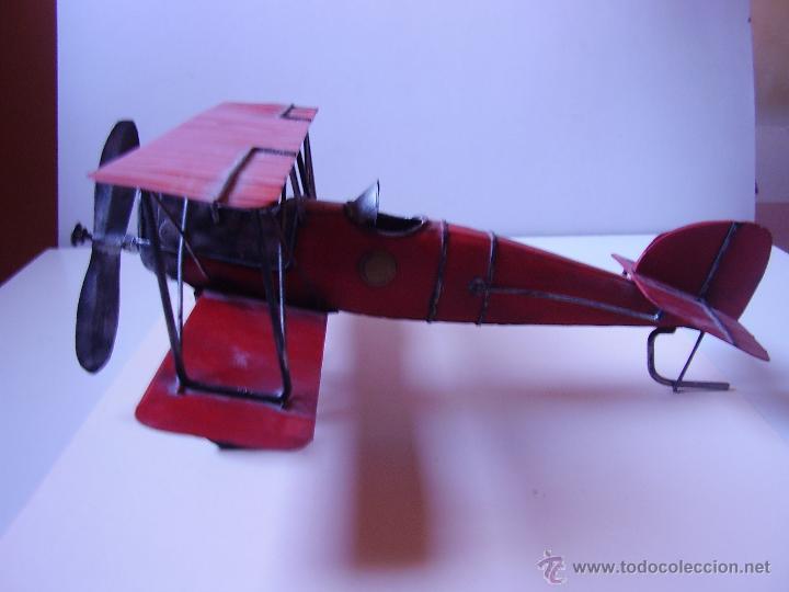 Juguetes antiguos de hojalata: MAQUETA DE AVIONETA MUY BONITA - Foto 3 - 52746701