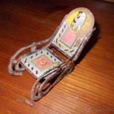 Juguetes antiguos de hojalata: MECEDORA ORIGINAL DE RICO RSA. Lote 52768669