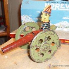 Juguetes antiguos de hojalata: ANTIGUO CAÑON HOJALATA MADE GERMAN BING LEHMANN ARNOLD ? SIMIL PAYA. Lote 53026822