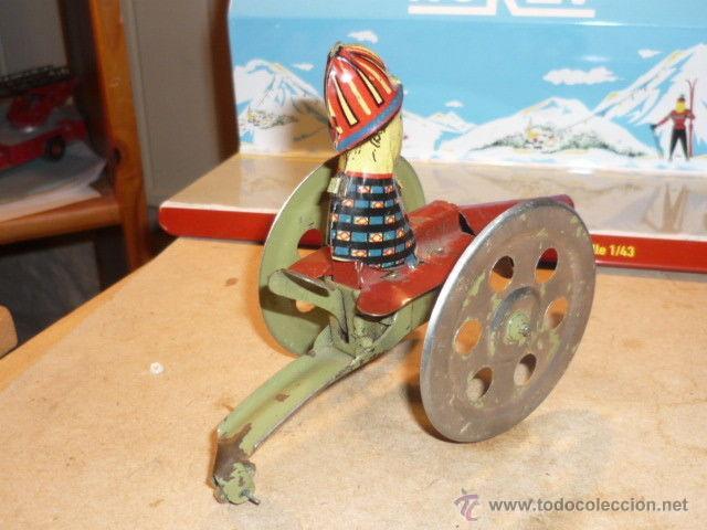 Juguetes antiguos de hojalata: ANTIGUO CAÑON HOJALATA MADE GERMAN BING LEHMANN ARNOLD ? SIMIL PAYA - Foto 3 - 53026822