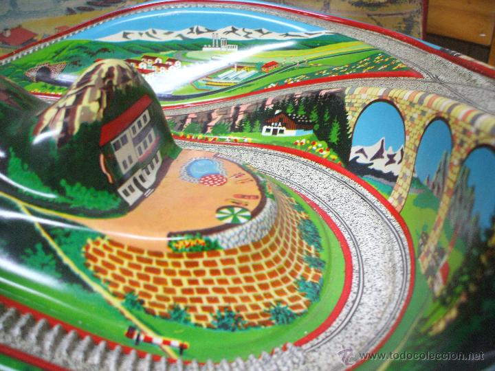 Juguetes antiguos de hojalata: MARKE TECHNOFIX 312 ROCKY MOUNTAINS TRAIN, CIRCUITO DE HOJALATA JUGUETE ALEMAN AÑOS 60 * MUY RARO * - Foto 6 - 53088094