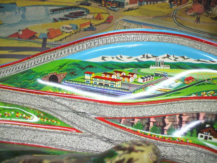 Juguetes antiguos de hojalata: MARKE TECHNOFIX 312 ROCKY MOUNTAINS TRAIN, CIRCUITO DE HOJALATA JUGUETE ALEMAN AÑOS 60 * MUY RARO * - Foto 7 - 53088094