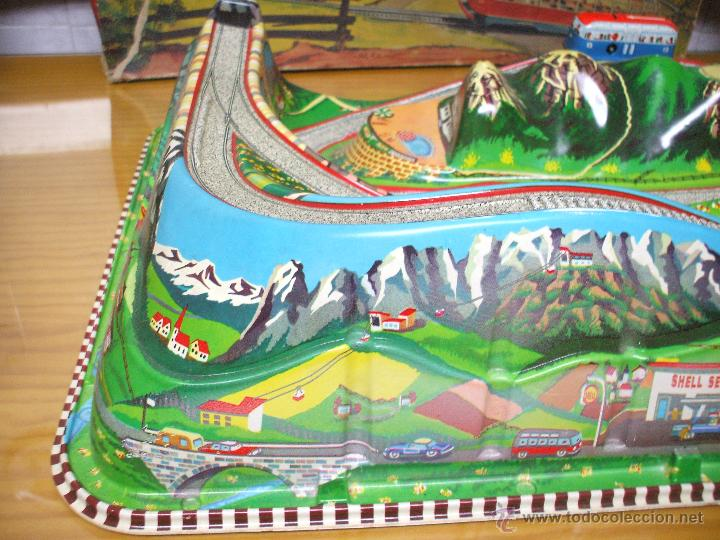 Juguetes antiguos de hojalata: MARKE TECHNOFIX 312 ROCKY MOUNTAINS TRAIN, CIRCUITO DE HOJALATA JUGUETE ALEMAN AÑOS 60 * MUY RARO * - Foto 13 - 53088094