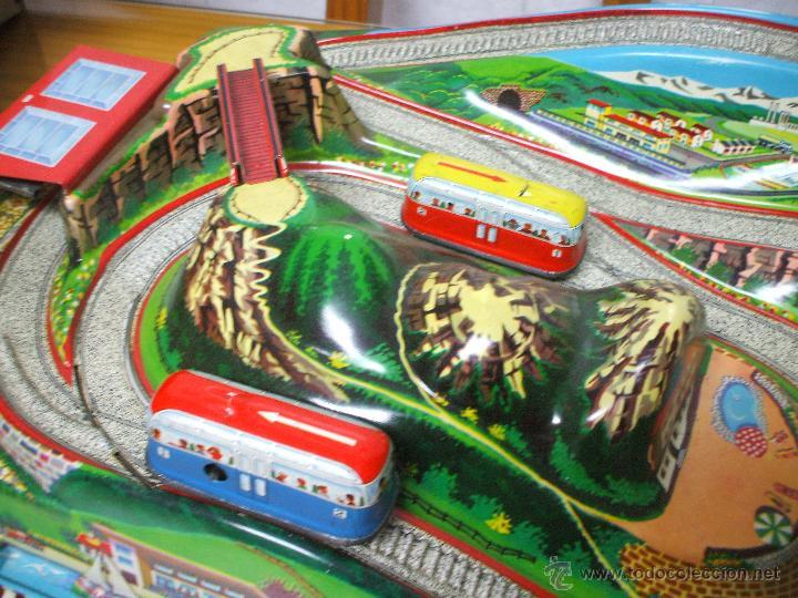 Juguetes antiguos de hojalata: MARKE TECHNOFIX 312 ROCKY MOUNTAINS TRAIN, CIRCUITO DE HOJALATA JUGUETE ALEMAN AÑOS 60 * MUY RARO * - Foto 26 - 53088094