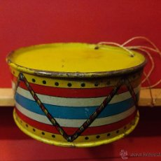 Juguetes antiguos de hojalata: ANTIGUO JUGUETE TAMBOR RICO DE HOJALATA. Lote 53312947