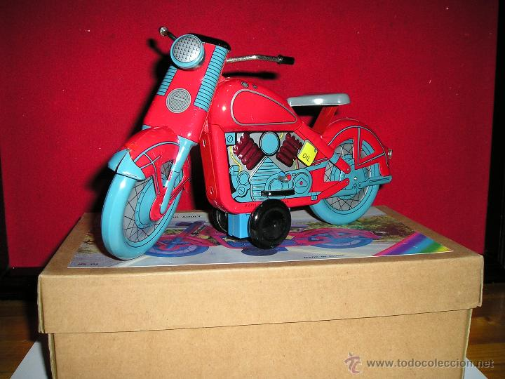 Juguetes antiguos de hojalata: MOTOCICLETA DE FRICCION - Foto 2 - 53423016