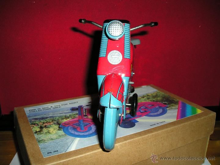 Juguetes antiguos de hojalata: MOTOCICLETA DE FRICCION - Foto 3 - 53423016