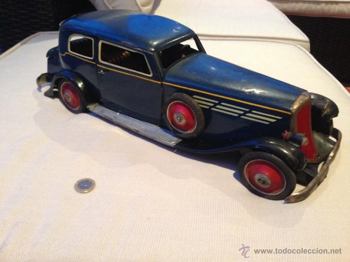 Juguetes antiguos de hojalata: AUTO SEDAN DE PAYA ORIGINAL 1934 - Foto 3 - 53850609