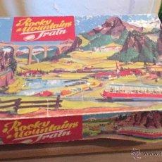 Juguetes antiguos de hojalata: ROCKY MOUNTAINS TRAIN AÑO 1965 ALEMANIA DEL ESTE. Lote 53938510