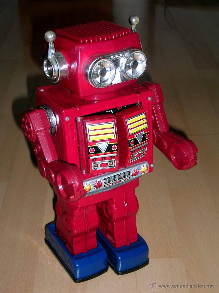 Juguetes antiguos de hojalata: Robot Super Astronaut space 30 cms, lata y plástico, Japan SH Horikawa, años 60. Funcionando. - Foto 4 - 54587619