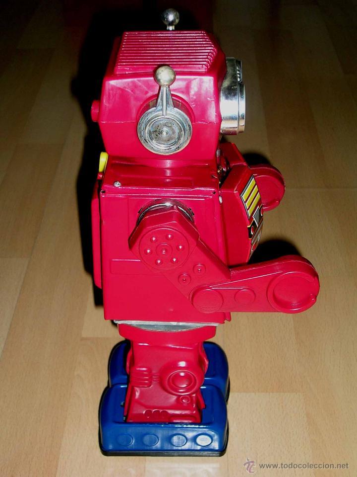 Juguetes antiguos de hojalata: Robot Super Astronaut space 30 cms, lata y plástico, Japan SH Horikawa, años 60. Funcionando. - Foto 5 - 54587619