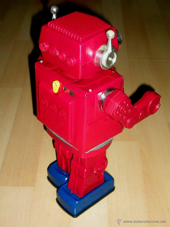 Juguetes antiguos de hojalata: Robot Super Astronaut space 30 cms, lata y plástico, Japan SH Horikawa, años 60. Funcionando. - Foto 6 - 54587619