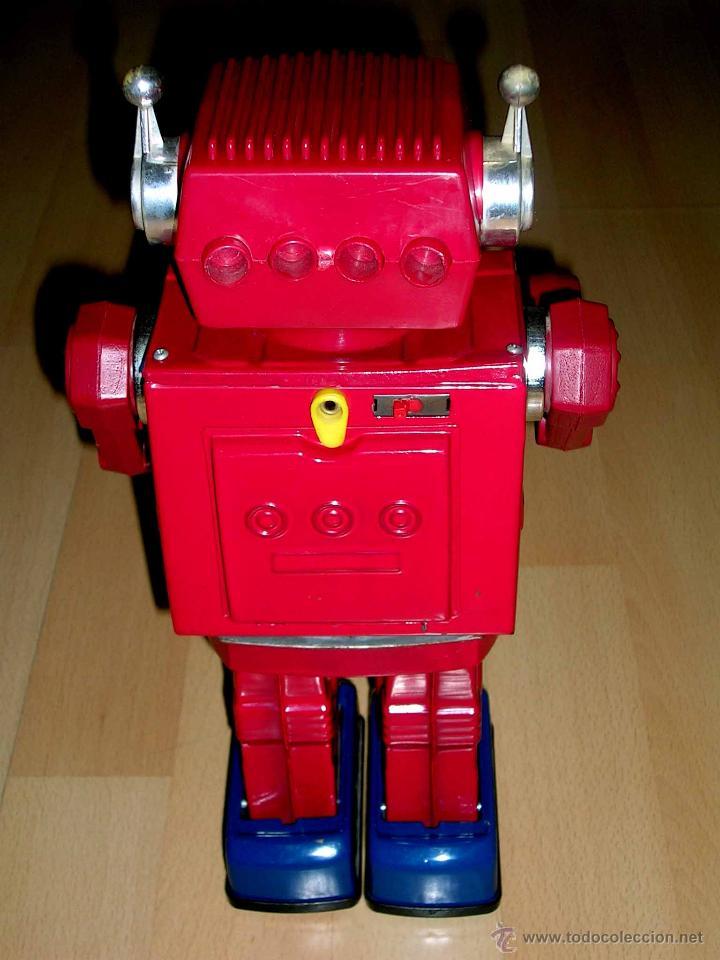 Juguetes antiguos de hojalata: Robot Super Astronaut space 30 cms, lata y plástico, Japan SH Horikawa, años 60. Funcionando. - Foto 7 - 54587619