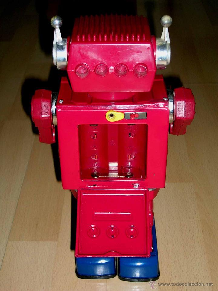 Juguetes antiguos de hojalata: Robot Super Astronaut space 30 cms, lata y plástico, Japan SH Horikawa, años 60. Funcionando. - Foto 8 - 54587619