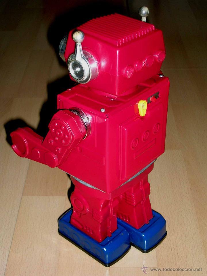 Juguetes antiguos de hojalata: Robot Super Astronaut space 30 cms, lata y plástico, Japan SH Horikawa, años 60. Funcionando. - Foto 9 - 54587619
