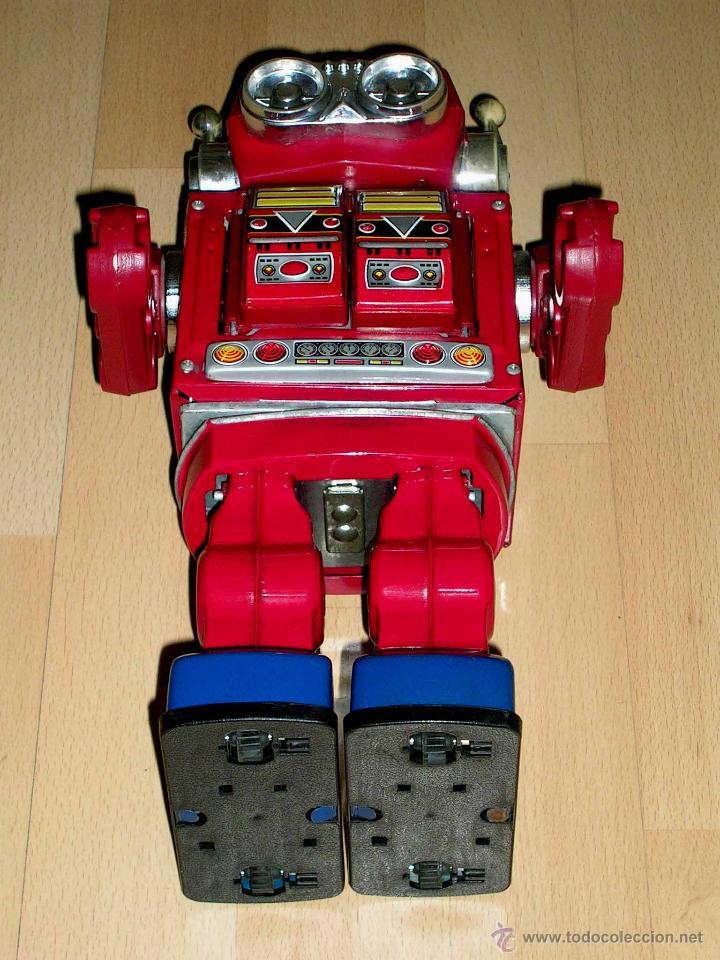 Juguetes antiguos de hojalata: Robot Super Astronaut space 30 cms, lata y plástico, Japan SH Horikawa, años 60. Funcionando. - Foto 10 - 54587619