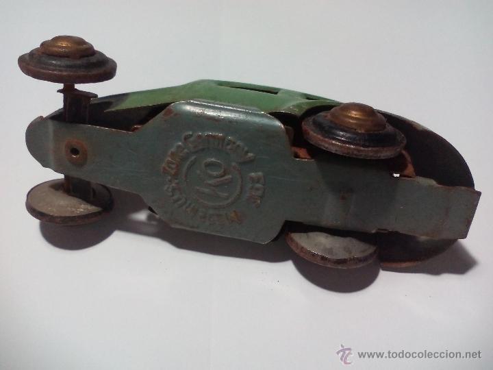 Juguetes antiguos de hojalata: CKO No. 363 Made in us zone Germany Antiguo Coche de hojalata. Años 40 Kellermann, Miniature tin Car - Foto 4 - 54589166