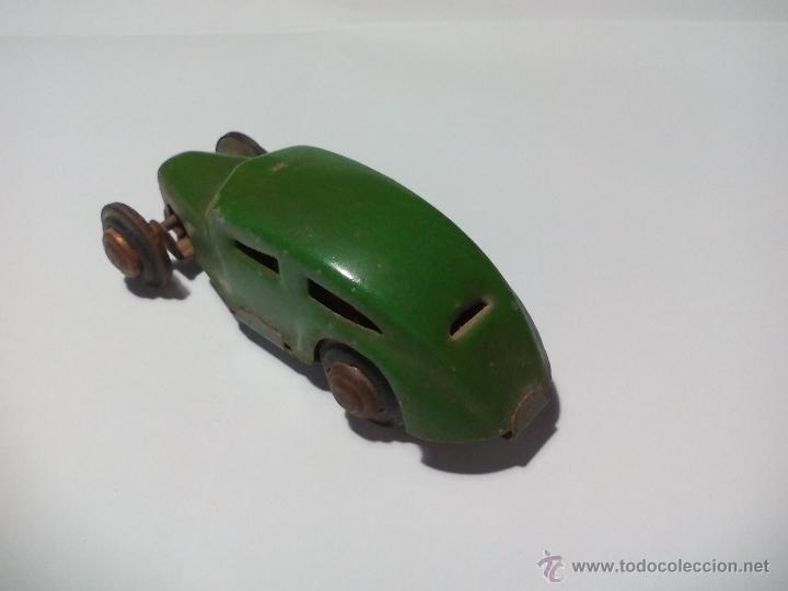 Juguetes antiguos de hojalata: CKO No. 363 Made in us zone Germany Antiguo Coche de hojalata. Años 40 Kellermann, Miniature tin Car - Foto 6 - 54589166