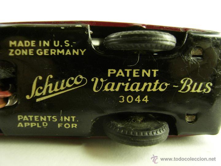 Juguetes antiguos de hojalata: SCHUCO VARIANTO BUS 3044 A CUERDA AÑOS 40 MADE IN US-ZONE GERMANY FUNCIONA ORIGINAL - Foto 12 - 54608173