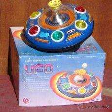 Juguetes antiguos de hojalata: UFO - PLATILLO VOLANTE - TOYS - JUGUETE DEL ESPACIO CHINO - CHINA. Lote 54732128