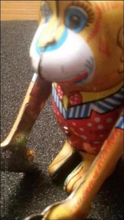 Juguetes antiguos de hojalata: MAGNIFICO JUGUETE ANTIGUO HOJALATA LITOGRAFIADA MADE EN JAPON AÑOS 40 50 FUNCIONANDO - Foto 2 - 54789152