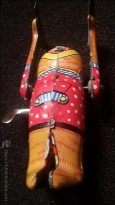 Juguetes antiguos de hojalata: MAGNIFICO JUGUETE ANTIGUO HOJALATA LITOGRAFIADA MADE EN JAPON AÑOS 40 50 FUNCIONANDO - Foto 5 - 54789152