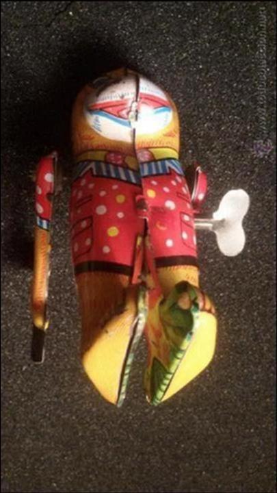 Juguetes antiguos de hojalata: MAGNIFICO JUGUETE ANTIGUO HOJALATA LITOGRAFIADA MADE EN JAPON AÑOS 40 50 FUNCIONANDO - Foto 6 - 54789152