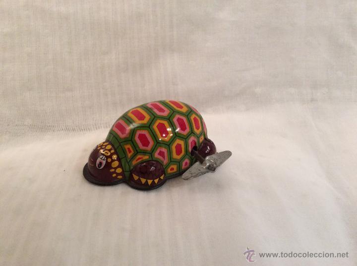 TORTUGA DE HOJALATA MADE IN JAPAN (Juguetes - Juguetes Antiguos de Hojalata Extranjeros)