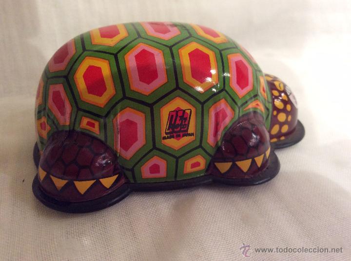 Juguetes antiguos de hojalata: Tortuga de hojalata made in japan - Foto 2 - 54793860