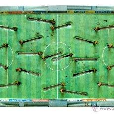 Juguetes antiguos de hojalata: PISTA FUTBOLIN EUROPA CUP DE CHAPA HOJALATA CON ACCESORIOS MOVILES TECHNOFIX WESTERN GERMANY AÑOS 50. Lote 54826096