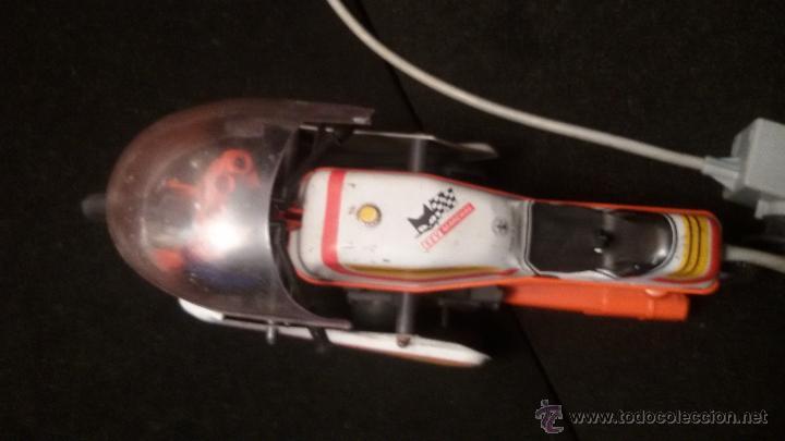 Juguetes antiguos de hojalata: MOTO JOUSTRA FRANCESA EN HOJALATA Y PLASTICO 29 cm mando - Foto 4 - 54876002
