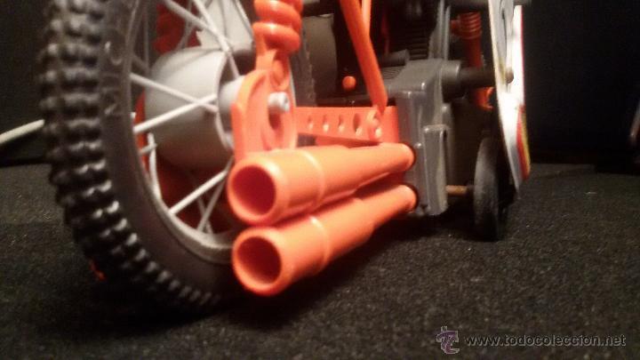 Juguetes antiguos de hojalata: MOTO JOUSTRA FRANCESA EN HOJALATA Y PLASTICO 29 cm mando - Foto 11 - 54876002