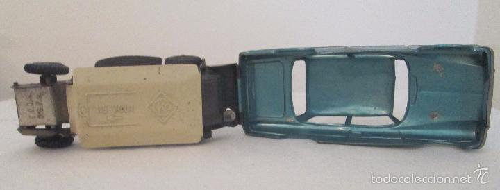 Juguetes antiguos de hojalata: Antiguo Opel CKO Alemania a pila, en lata - Foto 7 - 55202723