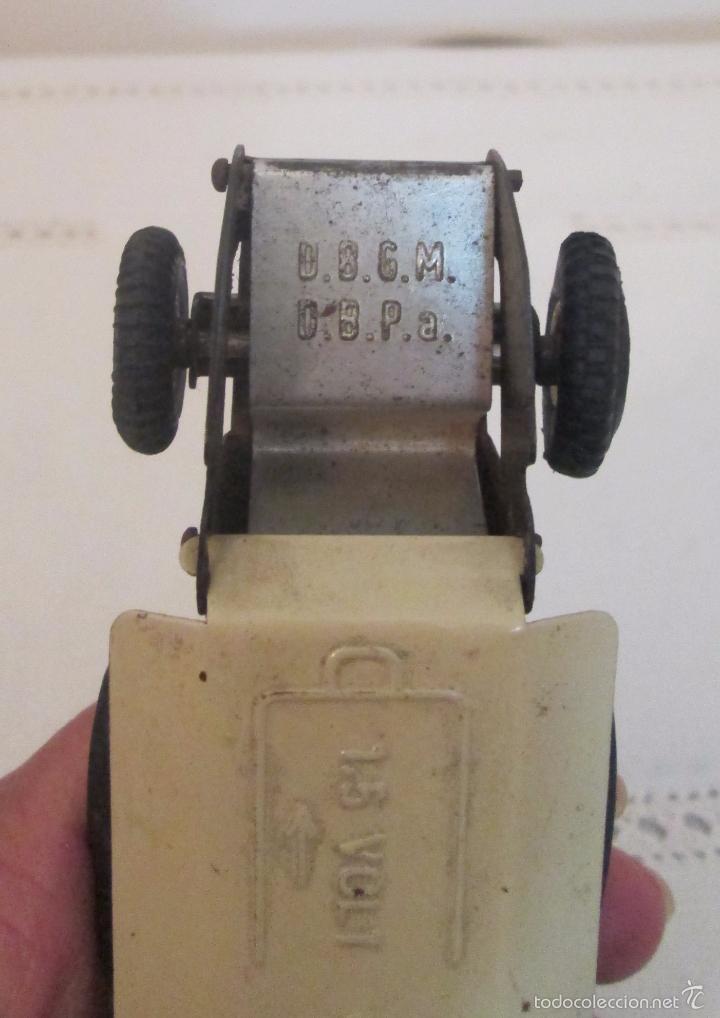 Juguetes antiguos de hojalata: Antiguo Opel CKO Alemania a pila, en lata - Foto 8 - 55202723