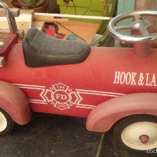 Juguetes antiguos de hojalata: COCHE DE BOMBEROS HOOK&LADDER . Lote 55365620