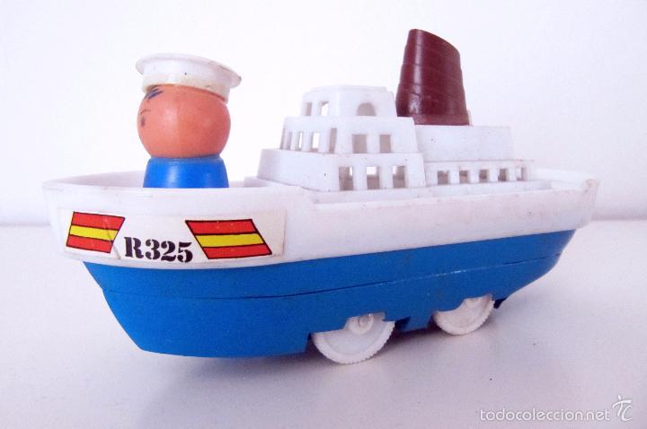 antiguo barquito hojalata y plastico r325 a f comprar juguetes