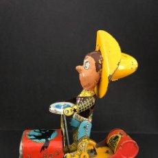 Juguetes antiguos de hojalata: JUGUETE DE HOJALATA. RODEO - MARCA RICO. Lote 56210120