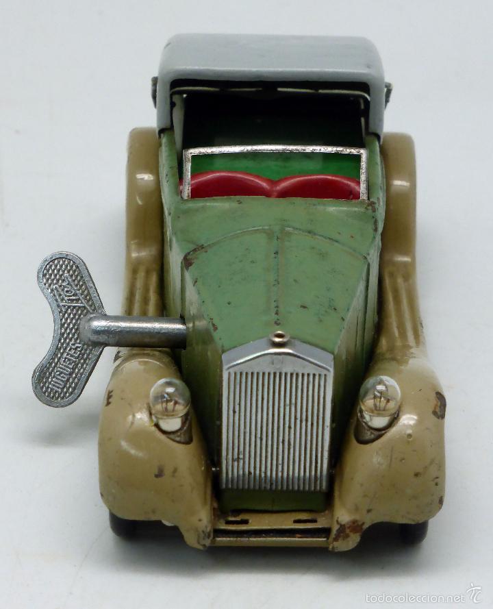 Juguetes antiguos de hojalata: Automóvil descapotable Minic Toys Made in England hojalata a cuerda Funciona - Foto 5 - 56503971