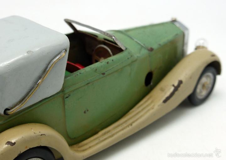 Juguetes antiguos de hojalata: Automóvil descapotable Minic Toys Made in England hojalata a cuerda Funciona - Foto 7 - 56503971