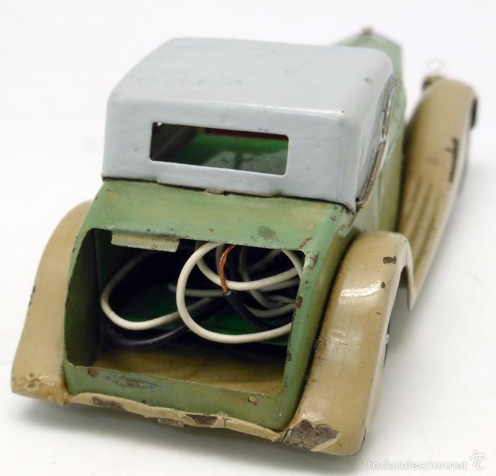 Juguetes antiguos de hojalata: Automóvil descapotable Minic Toys Made in England hojalata a cuerda Funciona - Foto 8 - 56503971