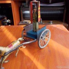 Juguetes antiguos de hojalata: TARTANA CREO QUE DE RICO. Lote 56940128
